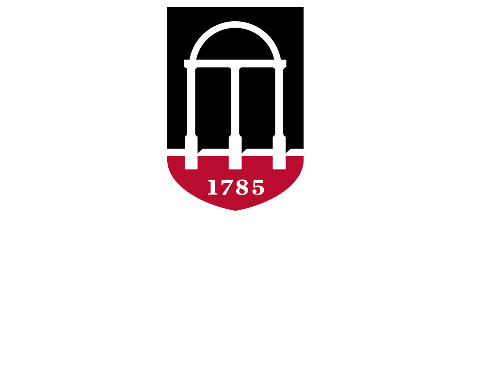 University of Georgia logo, vertically-aligned